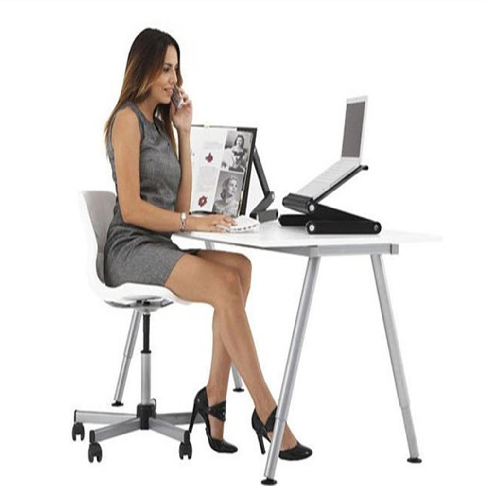 360°Adjustable Foldable Laptop Notebook PC Desk Table Vented Stand Bed Sofa Tray