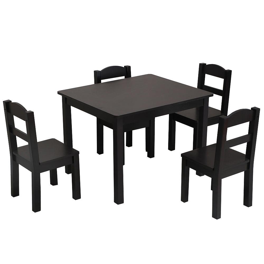 Fantastic Details About Child 5 Piece Dining Table Set Chair Wood Kitchen Breakfast Furniture 3 Colors Inzonedesignstudio Interior Chair Design Inzonedesignstudiocom
