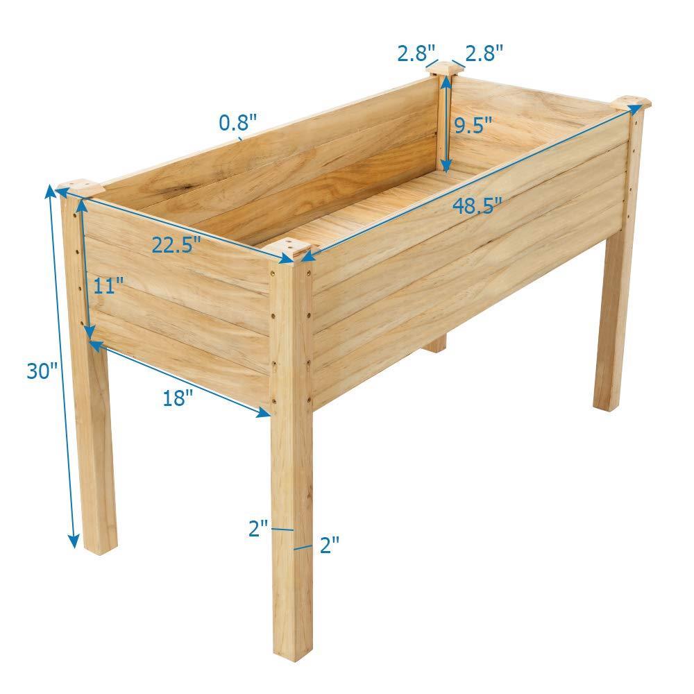 Cedar Raised Elevated Garden Bed Planter Box Kit Vegetables Corner