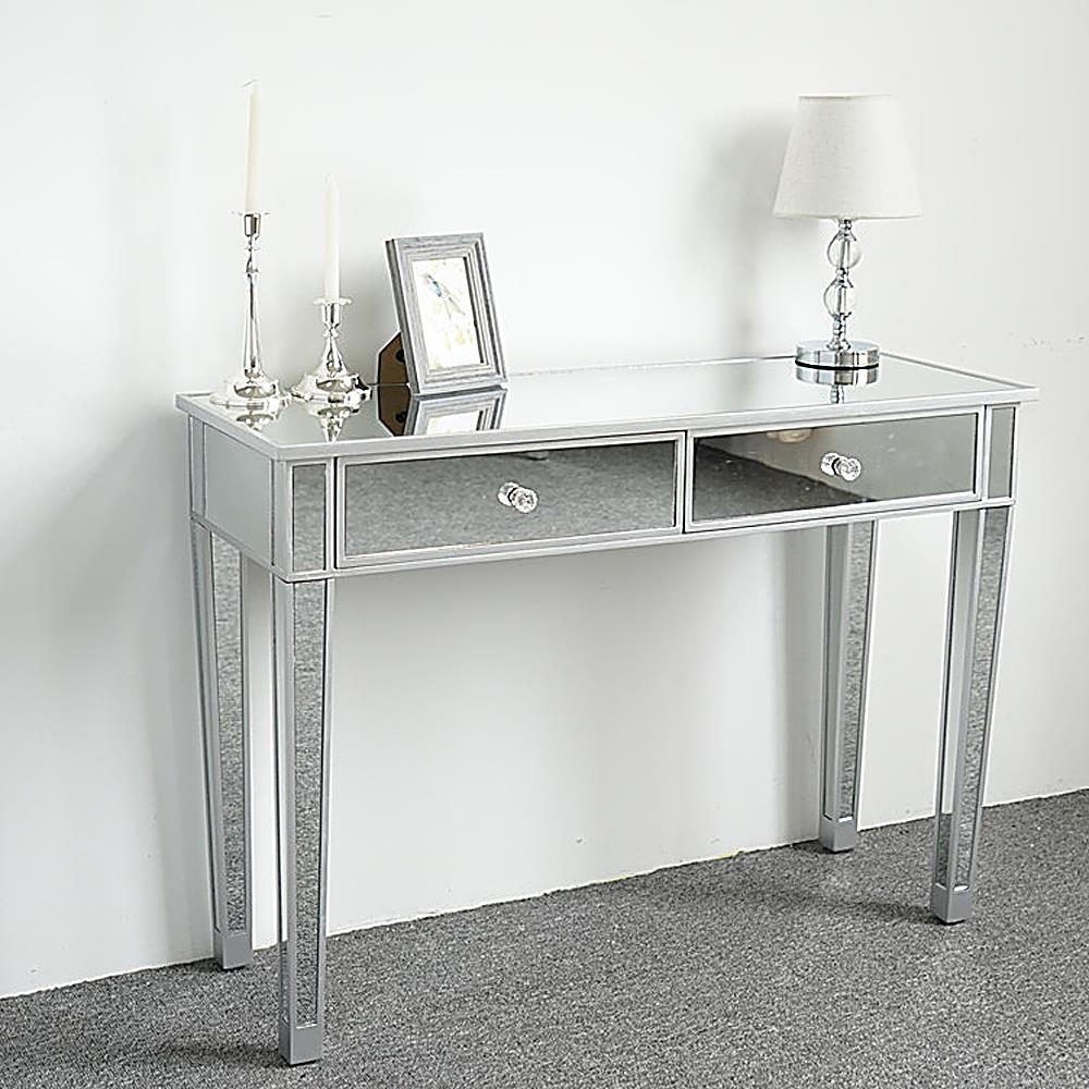 Fantastic Details About Mirrored Console Table Hall Side Table W Drawers Entryway Desk Accent Table Interior Design Ideas Inesswwsoteloinfo